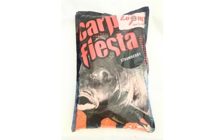 Carp Zoom Carpfiesta Erdbeer Anfütterungsmittel für Karpfen & Friedfische 1 kg