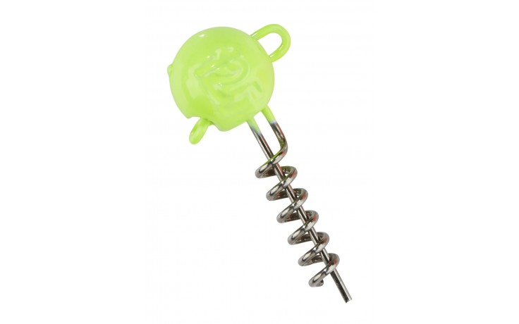 Balzer UV-aktive screw in Jigheads gelb 15 g