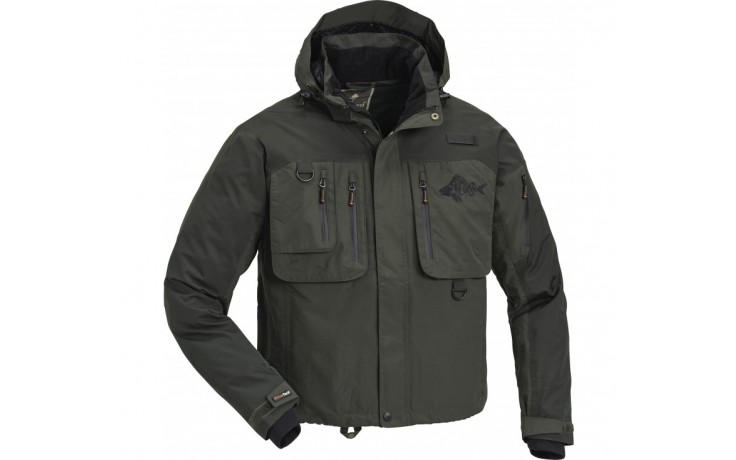 Pinewood Wildmark Fish Jacke Angeljacke Größe L Outdoorjacke Trackingjacke