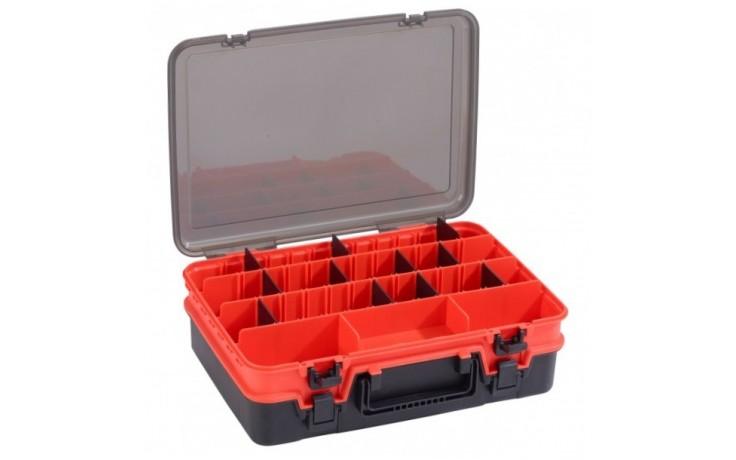Balzer Shirasu Box Double 2ladige Angelköderbox Angelzubehörbox 38,5 * 27,5 * 12 cm