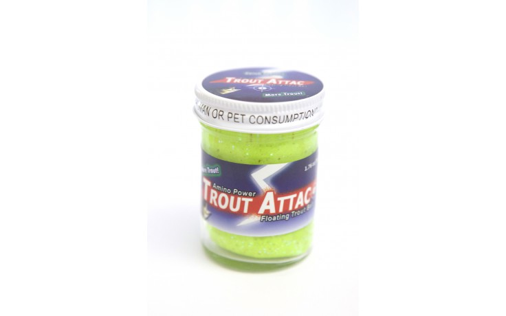 Trout Attack Troutbait Chartreuse Garlic Glitter
