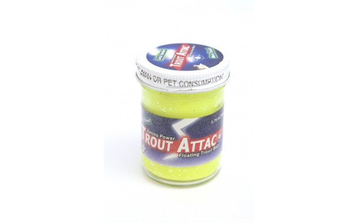 Trout Attack Troutbait Yellow Flash Glitter