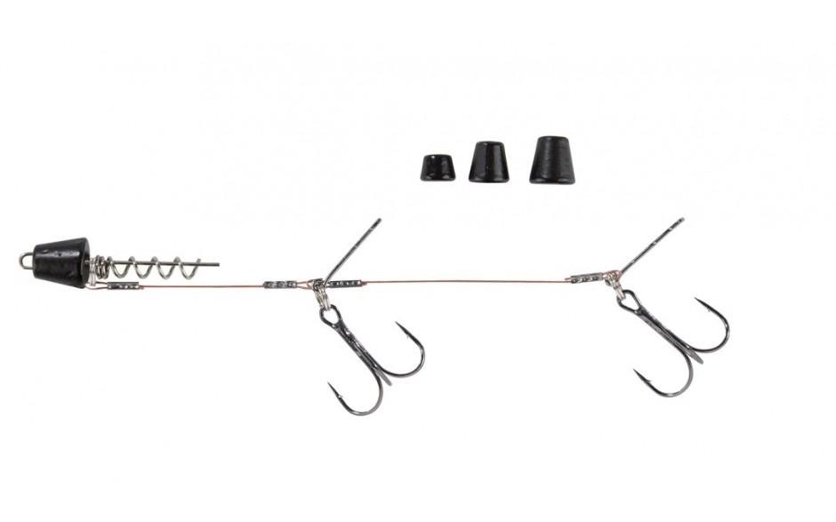 Balzer Hecht Rig Set, matt-schwarz XL