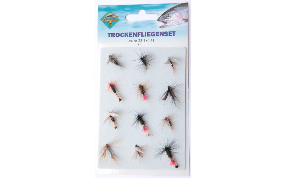 Trockenfliegen Set | Fliegen - Trockenfliegen für Forellen
