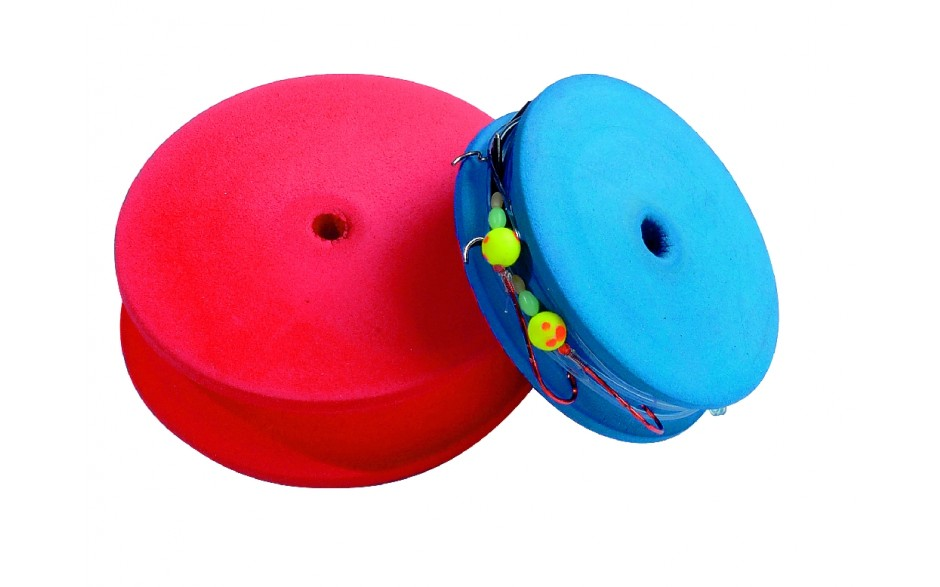 Haken- Vorfachaufwickler rund Ø 10 cm - rot -