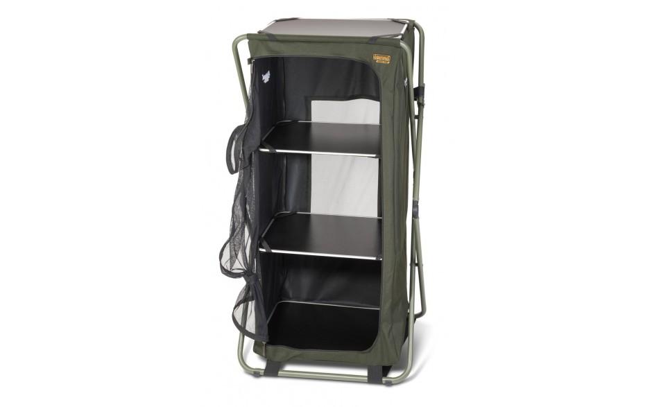 Anaconda Tent Locker Zeltschrank für Angler mit viel Angelzubehör und Angelbekleidung