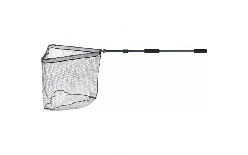 Balzer Metallica Kescher XTra Strong Unterfangkescher 2teilig teleskopierbar 2,6 Meter Armlänge 70 cm gummiertes Keschernetz