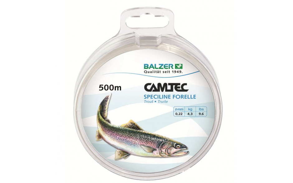 Balzer Camtec Speciline Forelle 500 m Angelschnur 0,25 mm