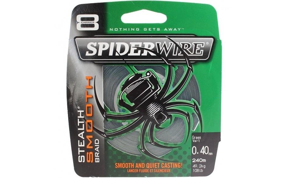 Berkley Spider Wire Stealth Smooth 8 Braid 0,12 mm 10,7 kg  8fach geflochtene Angelschnur moosgrün Meterware