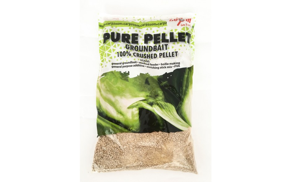 Carp Zoom Pure Pellets Heilbutt grob ideales Anfütterungsmittel 800 Gramm zum Anfüttern