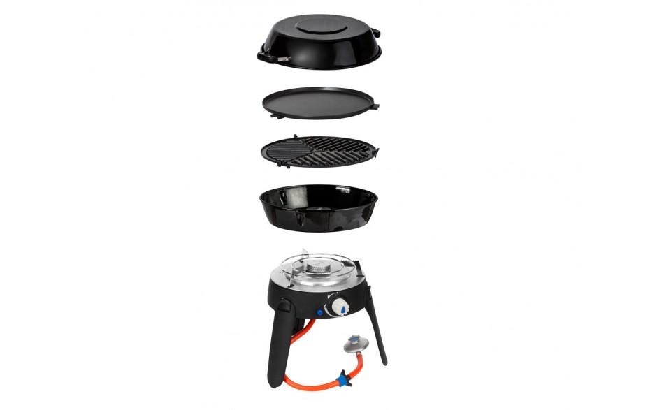 Cadac Safari Chef 2 Gas Grill mit austauschbaren Grilloberflächen 4 kg