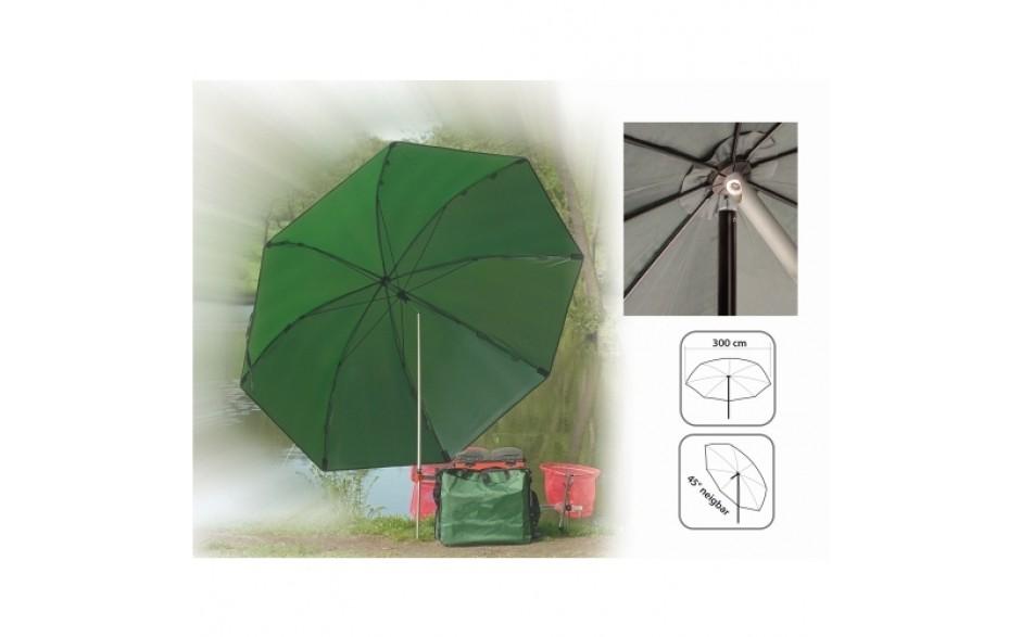 Jenzi Angelschirm 3 Meter Angel Schirm speziell für viel Angelzubehör