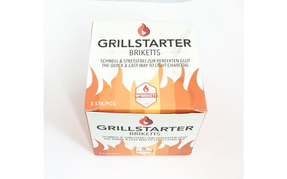 Grillstarter Briketts Grillanzünder 3er Packung Anzündbriketts