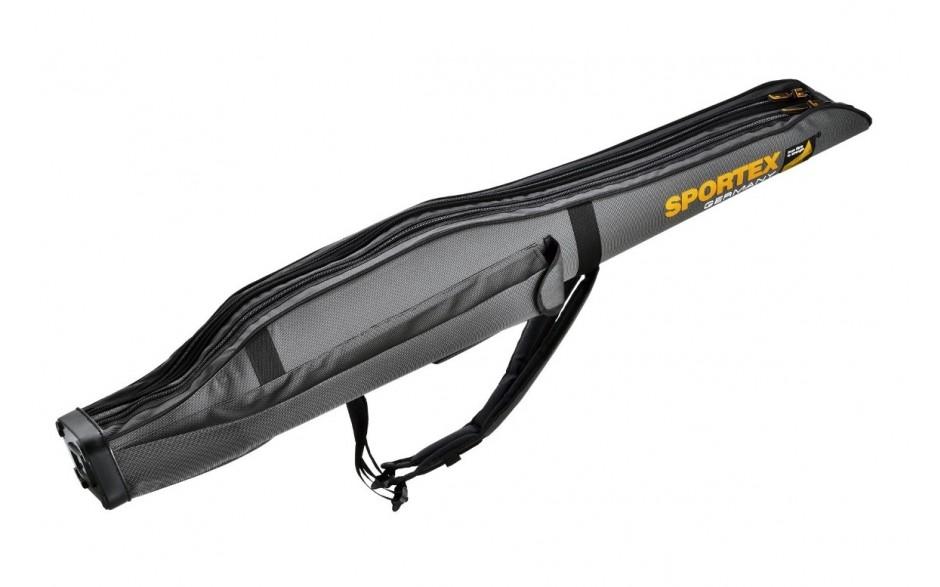 Sportex Super Safe 1,65 Meter mit  2 Fächer für 2 Angelruten Farbe grau mit 2 Trageriemen