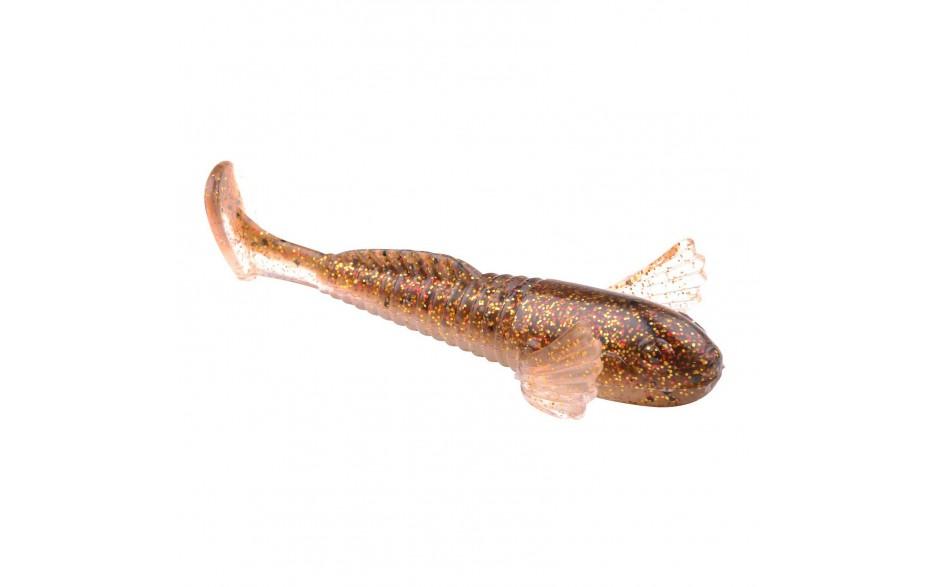 Spro Shy Goby 10 cm Angelköder Sexy Gold Back Gummifisch für Raubfische Hechtköder
