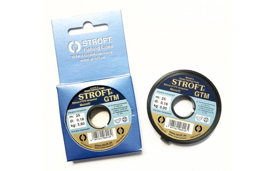 Stroft GTM 0,16 mm 3,0 kg 25 Meter Vorfachschnur Angelschnur