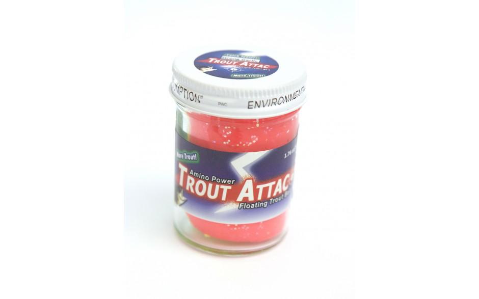 Trout Attack Troutbait Red Garlic Glitter