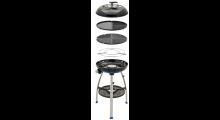 Cadac Carri Chef 2 Grasgrill mit 3,7 kW 3 Grill Auflagen Transporttasche und Grill Thermometer im Deckel