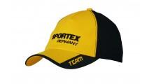 Sportex Base Cap gelb - schwarz | Baseballcap von Sportex