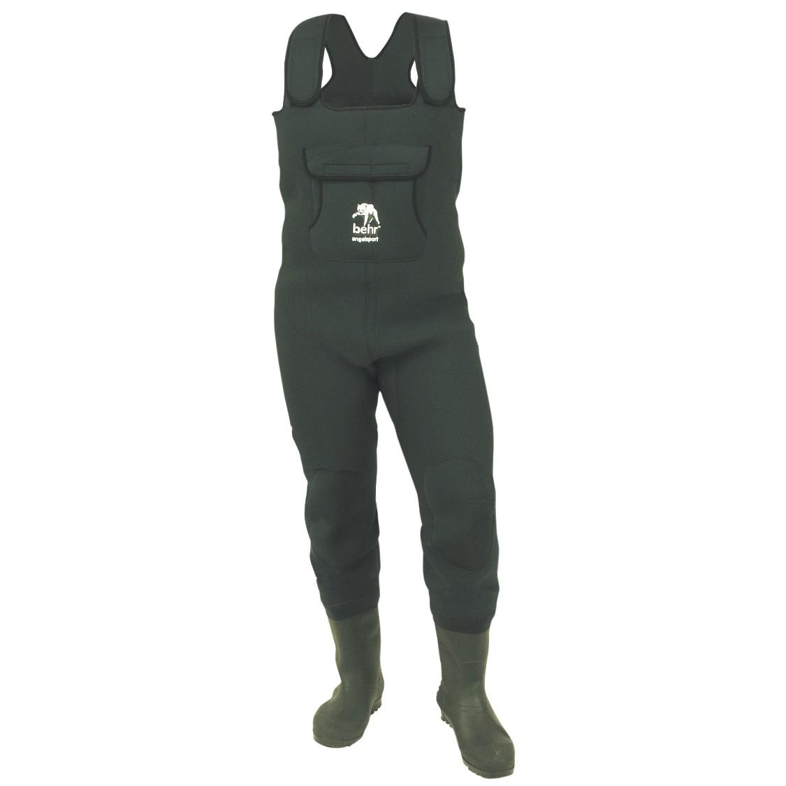 Cormoran  Nylon//PVC Wathose mit Brusttasche und Tragetasche